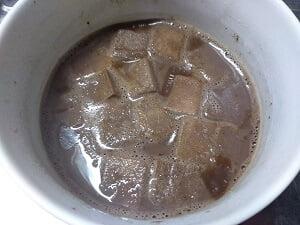 高野豆腐も入れレンチン後冷ます写真