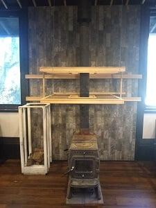 がまこう庵の暖炉の写真