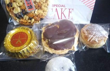 奥野製菓舗の買ったお菓子の写真